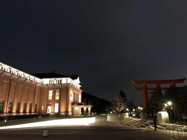 美術館のライトアップ
